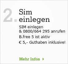 B.free SIM einlegen