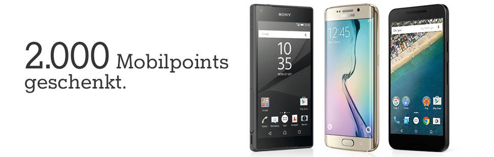 Mit Mobilpoints günstiger zum neuen Handy