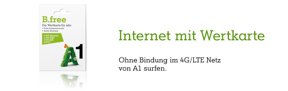 B.free Internet - ohne Bindung im 4G/LTE Netz von A1 surfen!