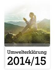 Umwelterklärung 2014/15