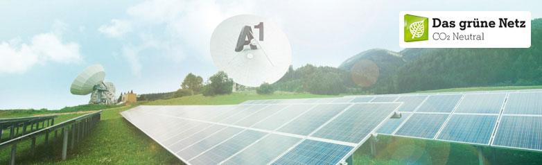 Das erste grüne Netz Österreichs. A1 betreibt sein Netz zu 100% CO2 neutral.