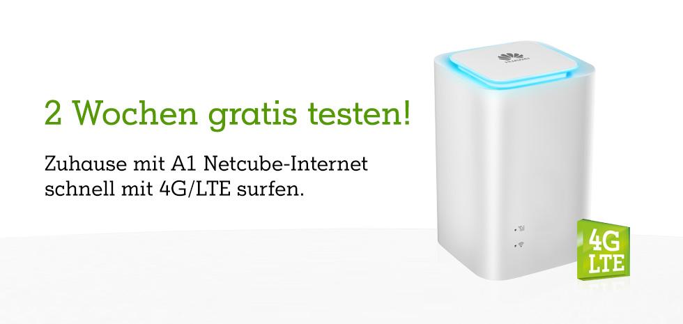 Jetzt neu: Die A1 Net Cube-Internet Tarife. Zuhause mit bis zu 150 Mbit/s surfen!