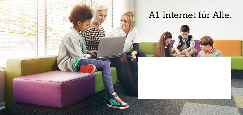 A1 Internet für Alle.